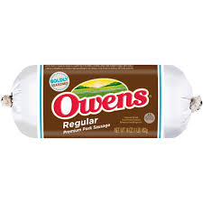 owens regular premium pork sausage 16 oz roll walmart com
