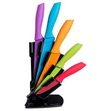beautiful coloured kitchen knives set 27 best for home decorator