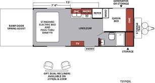 Salem Campers Floor Plans Xlr Nitro Travel Trailer U0026 Fifth Wheel Toy Haulers Floorplans