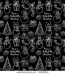 black wrapping paper christmas background snowmen illustration wrapping paper stock