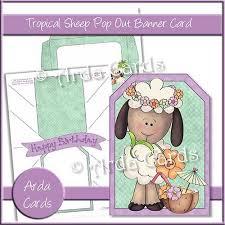 tropical sheep printable pop banner card u2013 printable craft