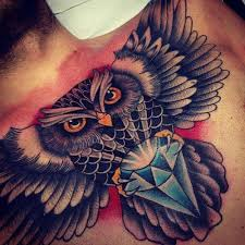 40 owl tattoos on chest thewildtattoo 2017