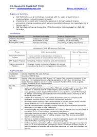 Management Consulting Resume Sap Fico Resume Sap S Resume Sap Fico Experience Resume Format