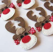 inspiration reindeer felt hair clip rudolph the red nosed