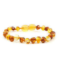 amber bead bracelet images Polished cognac lemon baroque amber teething anklet bracelet jpg