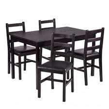 Black White Dining Table Chairs Dining Furniture Sets Ebay