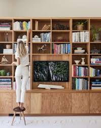 Built In Bookcases With Tv How Much For Those Gorgeous Built In Bookshelves Open Shelves