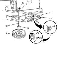 chevrolet avalanche 1500 ls spare tire crank down mechanism