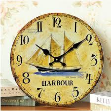 Decorative Metal Wall Clocks Antique Wooden Wall Clock Large Decorative Wall Clocks Sail Anchor