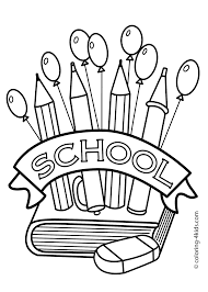 Coloring Page Of A School Free Printable Back To School Coloring Pages Geekbits Org by Coloring Page Of A School