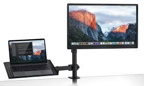 songmics bamboo monitor riser laptop tv printer stand desk