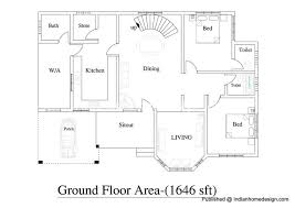 plan house 2600 sqft 4bhk house plan for duplex house