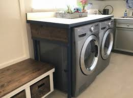 table over washer and dryer you ll love this diy laundry table just 85 abbotts at home