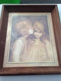 home interior framed margaret keane a big eyed boy framed home