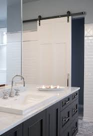 bathroom with barn door contemporary bathroom kastler