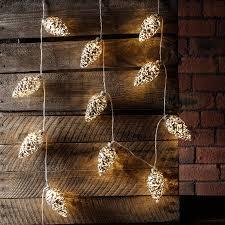 Fairy Light Wall by 20 Silver Pinecone Fairy Lights By Lights4fun Notonthehighstreet Com