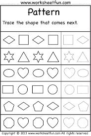 preschool pattern worksheets worksheets