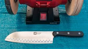 best way to sharpen kitchen knives easy way to sharpen a knife within a minute bench grinder hack