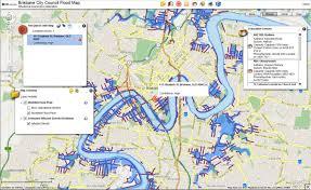 flood map flood map brisbane brisbane flood map australia