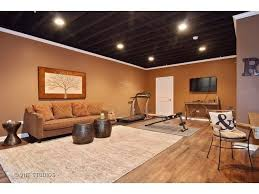 impressive modest painting exposed basement ceiling exposed