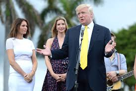 donald trump and family attend trump invitational in palm beach