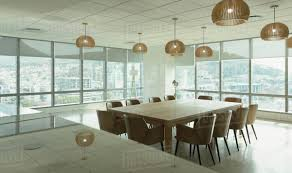 modern office conference table conference table and pendant lights in modern office conference room