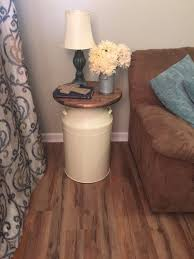 cream round end table pin by country corner goods on dream home pinterest rustic table