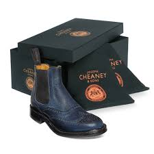 womens navy boots uk cheaney navy brogue chelsea boot made in