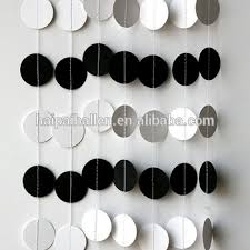 White Christmas Paper Decorations by Black And White Round Paper Garland For Graduation Party