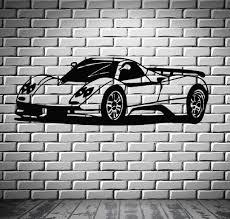 car bikes boats wall vinyl decal wallstickers4you sport race speed car motor vehicle mural wall art decor vinyl sticker z866