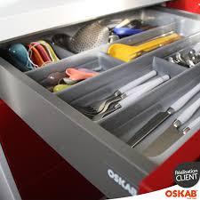 range couverts tiroir cuisine range couverts tiroir l100 cm anthracite avec séparateurs