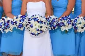 Blue Orchids Bouquet Bridal Blue Orchid Bouquets