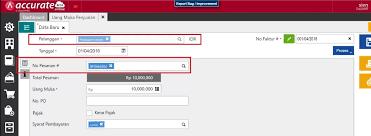 cara membuat faktur pajak untuk uang muka membuat uang muka penjualan partial accurate online