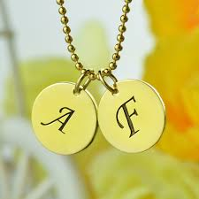 ring name necklace images Name necklace gold color personalized initial discs necklace jpg