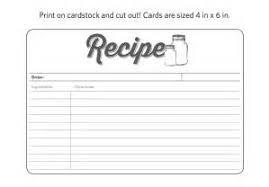 19 free recipe card template 3 5 summer book tasting home