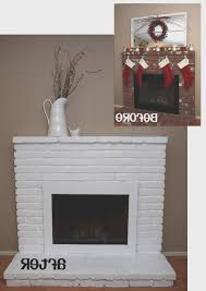 fireplace simple how to paint brick fireplace white interior