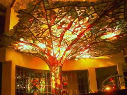 stained glass tree at tony s restaurant in taxco mexico via