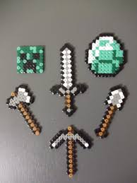 minecraft set of keychains u20ac0 75 via etsy for the kids