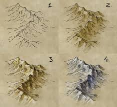 draw shade colour mountain range fantastic maps