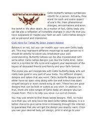 celtic butterfly tattoos my brain