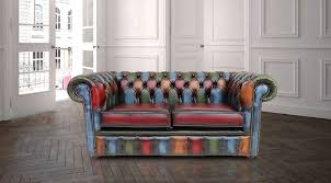 Patchwork Chesterfield - patchwork antique 2 seater settee leather sofa offer