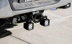 led backup light bar tow hitch mount 40w high power cree led pod backup reverse lights