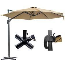 Offset Patio Umbrella With Mosquito Net by 10 U0027 Hanging Roma Offset Umbrella Outdoor Patio Sun Shade