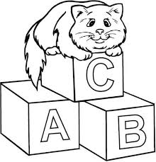 abc coloring pages getcoloringpages
