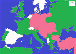 Europe Map During Ww1 by Alliances Jpg
