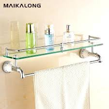 Bathroom Glass Shelves With Towel Bar Glass Bathroom Shelf With Towel Bar Northlight Co