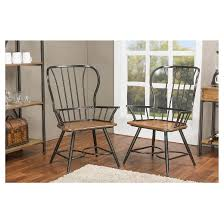longford industrial dining arm chair set of 2 baxton studio