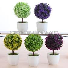 plastic tree plant small tree potted artificial plastic grass