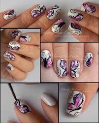 butterfly nail design my nails designs mis uñitas pinterest