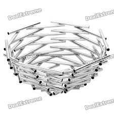 modern fruit basket modern stainless steel fruit basket silver free shipping